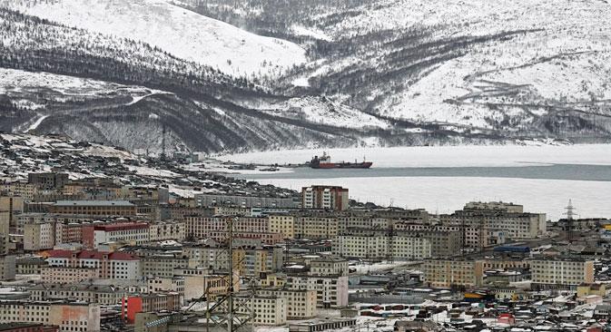 Magadan im Nordpazifik ist wie keine andere russische Stadt von Moskau abgeschnitten. Foto: RIA Novosti