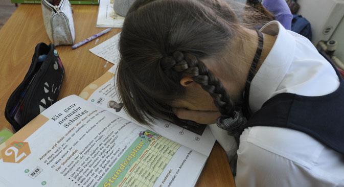Immer weniger Russen lernen Deutsch – Eine Initiative des Auswärtigen Amtes versucht, das zu ändern. Foto: RIA Novosti