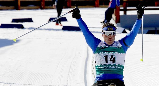 Irek Saripow gewann bei den Paralympics in Vancouver vier Goldmedaillen im Skilanglauf und Biathlon. Foto: ITAR-TASS
