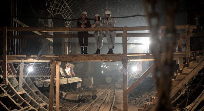 Unter der Oberfläche Moskaus ist im Laufe der Jahrhunderte ein Netz aus Gängen entstanden, das bis heute von Abenteurern erkundet wird. Foto: Wladimir Astapkowitsch/RIA Novosti