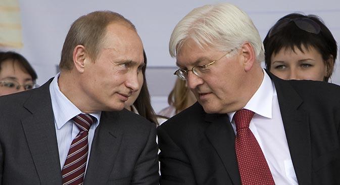 Der neue deutsche Außenminister Frank-Walter Steinmeier ist der Politiker, den Moskau vielleicht am liebsten in dieser Position sieht. Foto: DPA