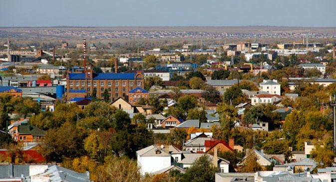 Orenburg bei Nacht. Foto: Geophoto
