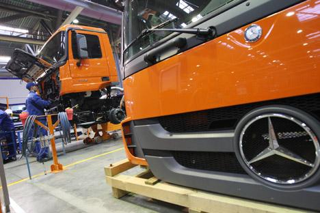 Der deutsche Autobauer will seinen Aktienanteil am russischen Unternehmen deutlich steigern, doch der Deal droht zu scheitern. Foto: Maxim Bogodwid/RIA Novosti