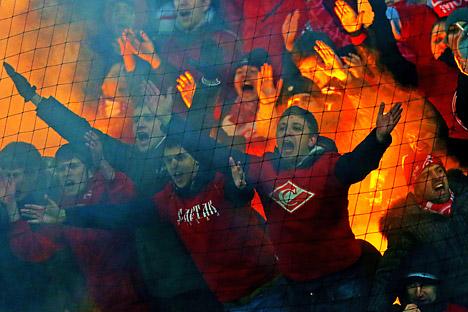 """Das neue """"Fan-Gesetz"""", das ab sofort in Russland gilt, soll Hooligans aus den Fußballstadien verbannen. Foto: ITAR-TASS"""