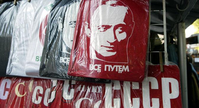 Wladimir Putin ist ein beliebtes Motiv für Merchandising aller Art. Foto: PhotoXPress