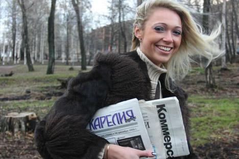 Die Postbotin Alla Tschenzowa ist zu ihrem Beruf durch eine schicksalshafte Fügung gekommen. Foto: PhotoXpress