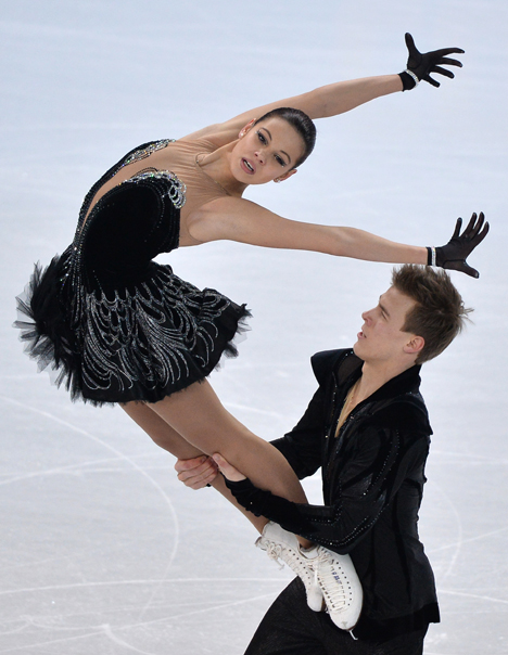 Russische Eistänzer Elena Ilinych und Nikita Katsalapow. Foto: RIA-Novosti