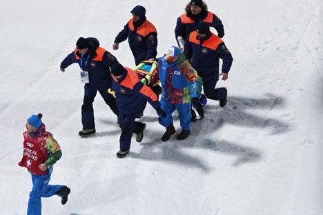 Die meisten Unfälle passieren während der Alpinski-, Freestyle-, Snowboard- und Spezialsprungtrainings und -wettkämpfe. Foto: RIA-Novosti