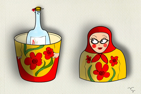 Matrjoschka und Wodka sind zu den zwei beliebtesten russischen Wörtern zu zählen. Bild: Nijas Karim