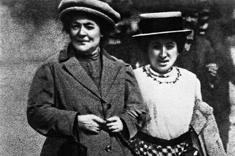 Frauen der ersten Stunde: Clara Zetkin und Rosa Luxemburg im Jahr 1910. Foto: ITAR-TASS