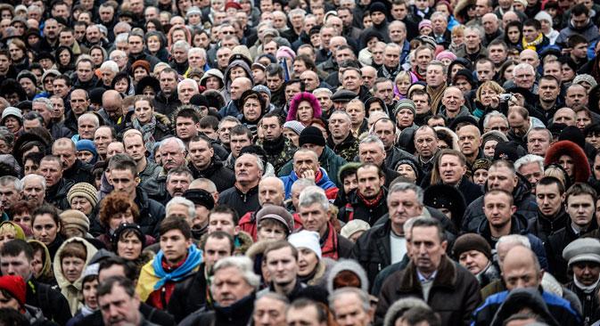 Die Ukraine-Krise ist für viele Russen auch eine persönliche Tragödie. Foto: AFP/East News