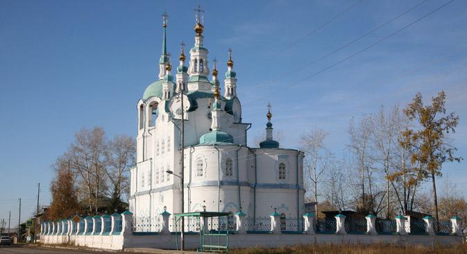 Die Erlöser-Kathedrale wurde in der Tradition des sibirischen Barocks gebaut. Foto: Anna Grusdewa