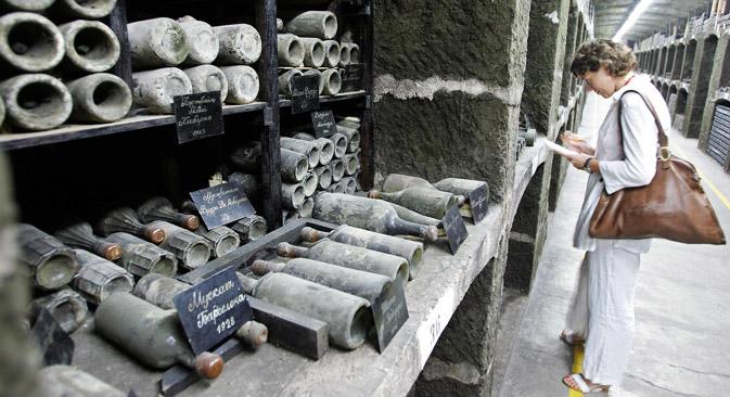 Die gesamten Weinanbaugebiete der Krim können zusammen einen Wert von 180 Millionen Euro haben. Foto: AFP