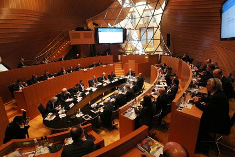 Die Verbesserung der Wirtschaftsbeziehungen stand im Fokus von Diskussionsrunden. Foto: Marc Darchinger