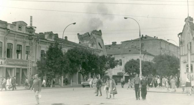 Die letzten Tage von der Kirche der Heiligen Maria in Saratow im Jahre 1974. Foto: oldsaratov.ru