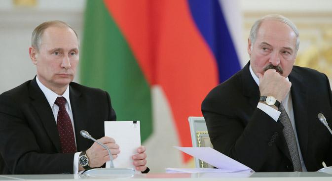 Der russische Präsident Wladimir Putin und der Präsident von Weißrussland Alexander Lukaschenko. Foto: Reuters