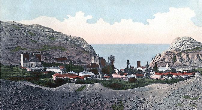 Die Geschichte der Krimdeutsche in Postkarten: Sudak, eine ehemalige deutsche Kolonie auf der Krim. Bild: Ethnographisches Museum Krim