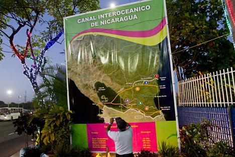 Ein Großer interozeanischer Kanal in Nicaragua soll zu einer Alternative zum Panamakanal aufsteigen. Die Projektkosten werden auf knapp 30 Milliarden Euro geschätzt. Foto: AP