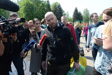 Der freigelassene OSZE-Beobachter Alex Schneider. Foto: RIA Novosti