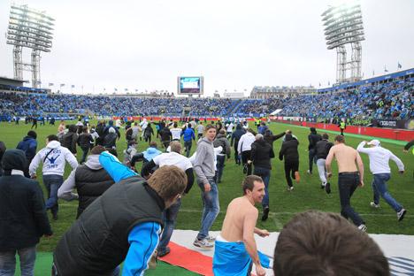 Erneut kam es bei einem Spiel von Zenit Sankt Petersburg zu Krawallen. Foto: ITAR-TASS