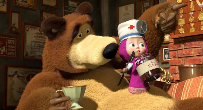 """Lustige Geschichten aus dem Wald erleben """"Mascha und der Bär"""". Bild: KiKA/Animaccord Animation Studio."""