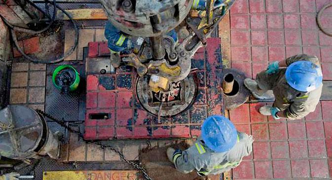 Im Westen wird die Möglichkeit eines Ausfuhrverbots von modernster Technologie und Ausrüstung für die Erdöl- und Gasindustrie nach Russland diskutiert. Foto: Photoshot / Vostock-Photo