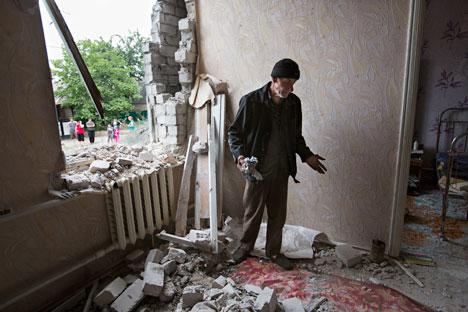 Nach dem Sondereinsatz der ukrainischen Armee in Slawjansk. Foto: AP