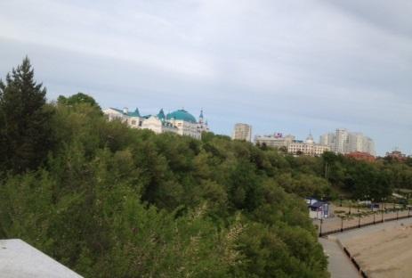 Blick vom Amur auf die Stadt. Foto: Adele Sauer