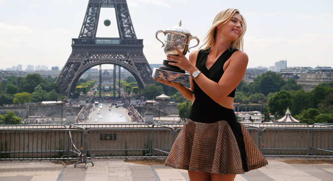 Abseits des Sports engagiert sich Scharapowa seit Februar 2007 als Goodwill-Botschafterin der Vereinten Nationen. Foto: AP