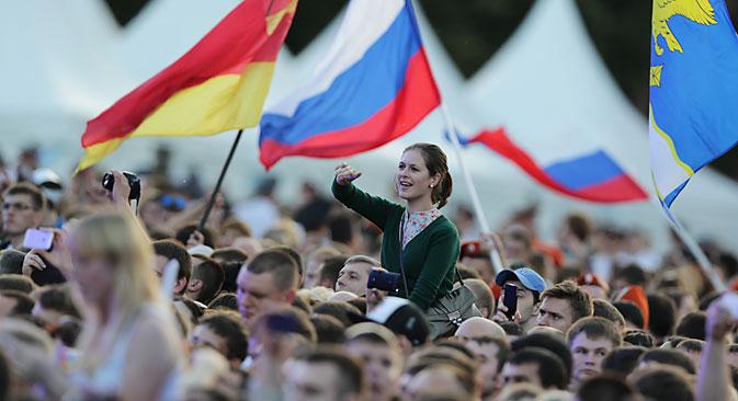 Von Kaliningrad bis Wladiwostok feiert man am 12. Juni den Tag Russlands. Foto: ITAR-TASS