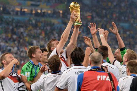 A Alemanha chegou à vitória porque consolidou o conceito de equipe, onde cada jogador tinha a capacidade de se tornar o principal do time, caso fosse preciso Foto: Photoshot