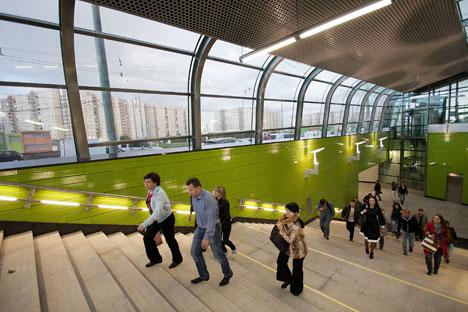 Sergej Sobjanin hatte sich, seit er im Jahr 2011 Bürgermeister Moskaus wurde, das Ziel gesetzt, die Verkehrsprobleme der russischen Hauptstadt zu lösen. Dazu sollte der Ausbau der Moskauer Metro vorangetrieben werden. Foto: ITAR-TASS