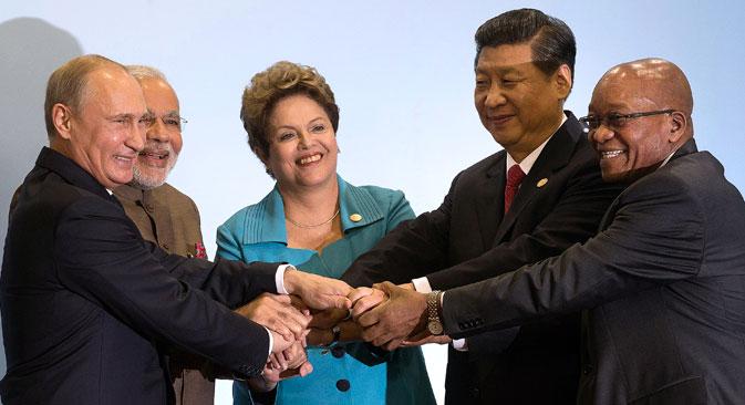 Im Vorfeld des Gipfeltreffens wurden das Abkommen über eine Zusammenarbeit im Bereich Kreditgewährung für Export und Versicherungen der Exportkredite für die BRICS-Staaten unterzeichnet. Foto: AP