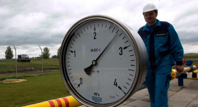 Gazprom sieht in den Rücklieferungen einen Verstoß gegen die Vertragsbedingungen. Foto: AP