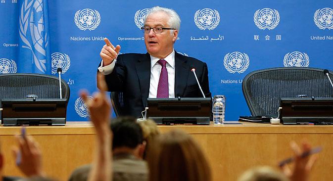"""Witalij Tschurkin: """"Über geopolitisches Kalkül scheinen einzelne Schicksale aus dem Blick zu geraten."""" Foto: Reuters"""