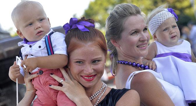 Das traditionelle Familienbild in Russland befindet sich im Wandel. Foto: ITAR-TASS