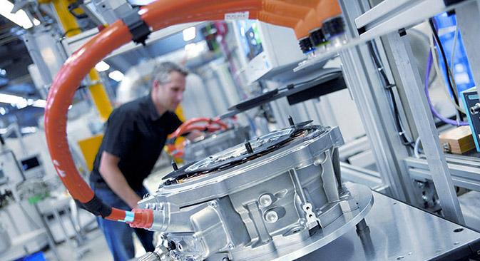 Unternehmen mit starkem Russland-Geschäft tragen den größten Schaden: 25 000 Arbeitsplätze sind in Gefahr. Auf dem Bild: Fertigung von Elektromotoren bei Bosch. Foto: www.vdma.org