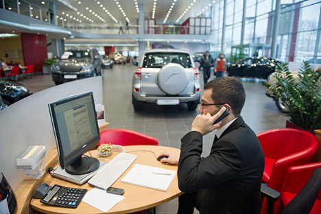 In Russland verfügen nur sechs Automobilkonzerne über ihre eigene Autobanken: Toyota, Daimler, BMW, Peugeot, Citroen und Volkswagen. Foto: ITAR-TASS