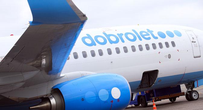 Europäischen Unternehmen ist eine Zusammenarbeit mit Dobrolet untersagt. Die Aktiva des Unternehmens in der EU wurden eingefroren. Foto: ITAR-TASS