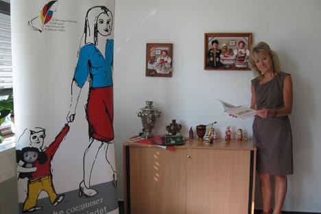 Dr. Brigitte Dreßler, Leiterin des Testzentrums TORFL und Ansprechpartnerin des Lichtenberger Netzwerkes für bilinguale deutsch-russische Bildung und Kultur. Foto: Olga Schtyrkina