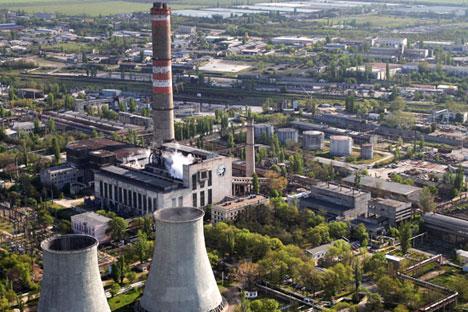 No final de abril, o Ministério da Energia da Rússia aprovou um plano que prevê a construção de usinas termelétricas a gás na Crimeia Foto: Taras Litvinenko/RIA Nóvosti
