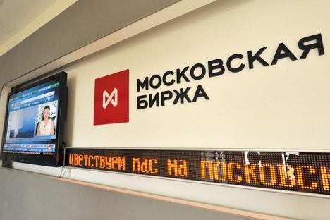 Die Entscheidung der Schweiz, die sich bisher im Hinblick auf restriktive Maßnahmen gegen Russland eher zurückhaltend gezeigt hatte, Sanktionen gegen Russland auszuweiten, ist für die Entwicklung an der russischen Börse ausschlaggebend gewesen. Foto: Sergej Kusnetsow / RIA-Novosti