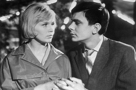 """Im Jahr 1964 feierte einer der populärsten Filme des Sowjetkinos """"Zwischenlandung in Moskau"""" seine Premiere auf den Internationalen Filmfestspielen von Cannes. Foto: RIA Novosti"""
