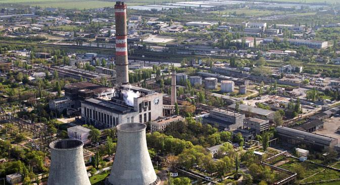Die ukrainische Regierung kündigte an, im Falle einer Unterversorgung mit Energie in der Ukraine die Versorgung der Krim für sechs Stunden pro Tag einzustellen. Foto: RIA-Novosti / Taras Litvinenko
