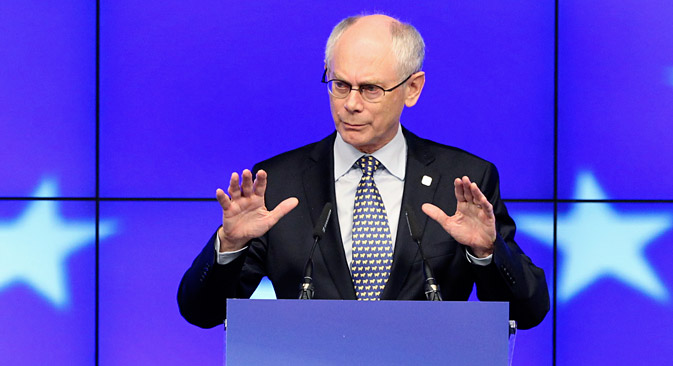 Presidente do Conselho Europeu, Herman Van Rompuy Foto: Reuters
