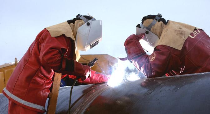 Wintershall ist mit dem russischen Energiekonzern Gazprom stark liiert: Sie haben an der Nord-Stream-Pipeline zusammengearbeitet. Foto: Pressebild von www.wintershall.com