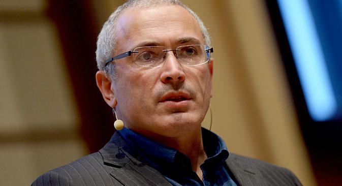 Michail Chodorkowski sprach am 23. September in Berlin über Russlands Zukunft. Foto: DPA/Vostock Photo