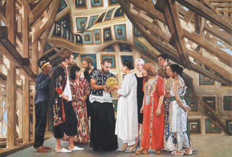 Die deutsche Malerin Antje Majewski hat eine Science-Fiction-Geschichte entworfen, die uns von einem zukünftigen Museum und der Zeremonie der Übergabe eines Kunstobjektes erzählt. Foto: Pressebild