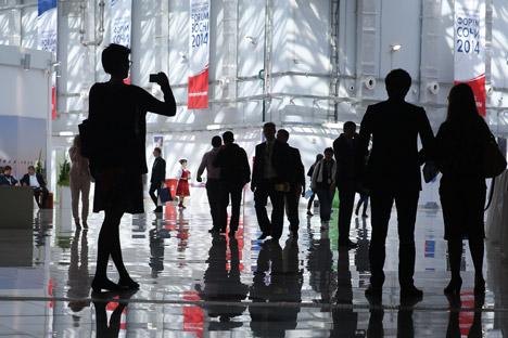 Die Olympiastadt Sotschi soll von Großevents wie dem Investitionsforum im September profitieren. Foto: ITAR-TASS