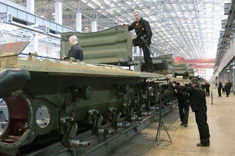 Russland erhöht die Ausgaben für seine Rüstungsindustrie. Foto: Sergej Mamontow/RIA Novosti